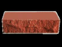 Кирпич фактурный, темно-красный